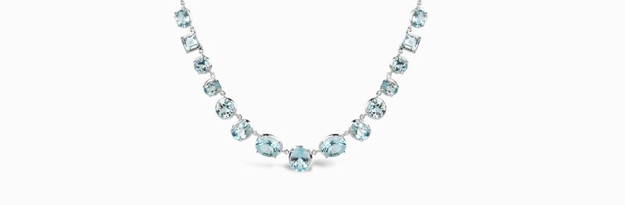 Silver and Vermeil Gemset Neckwear