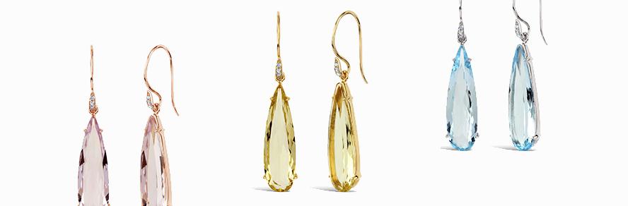 Silver & Vermeil Gemset  Earrings
