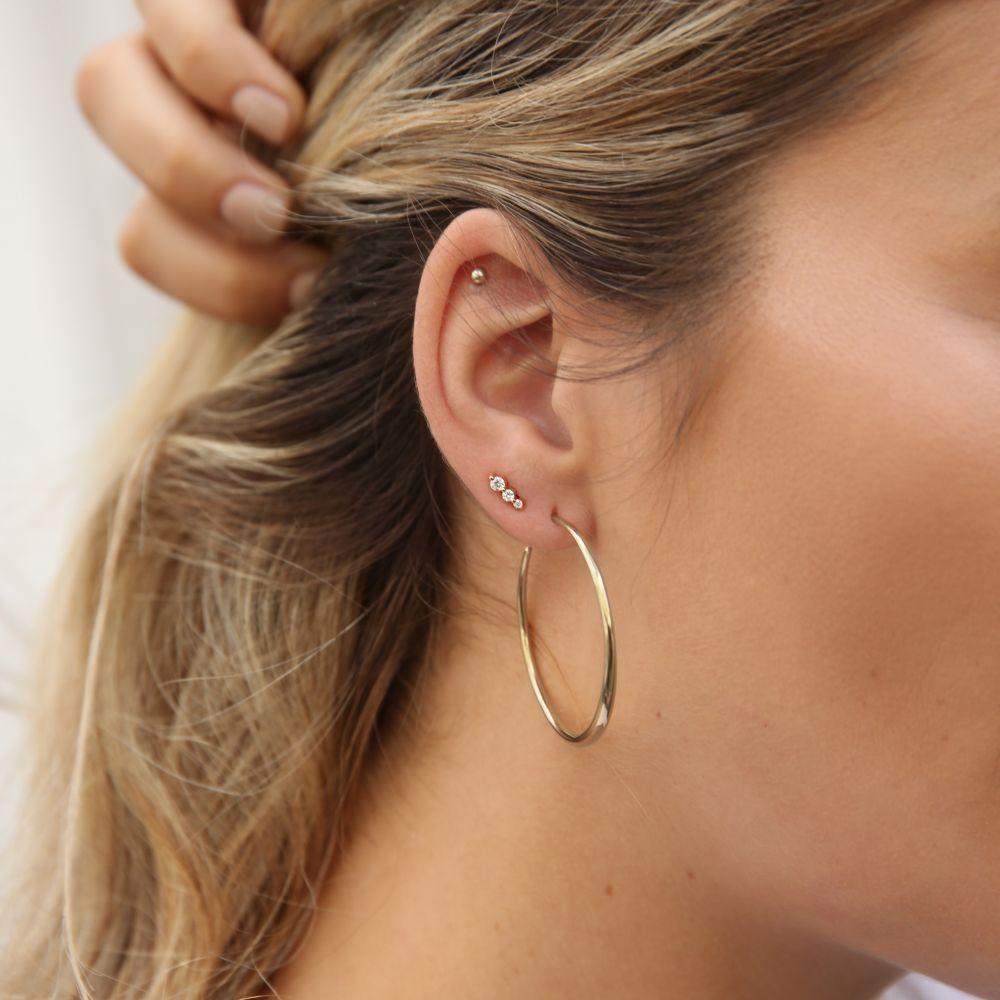 Solid Gold Ladies hoop earrings