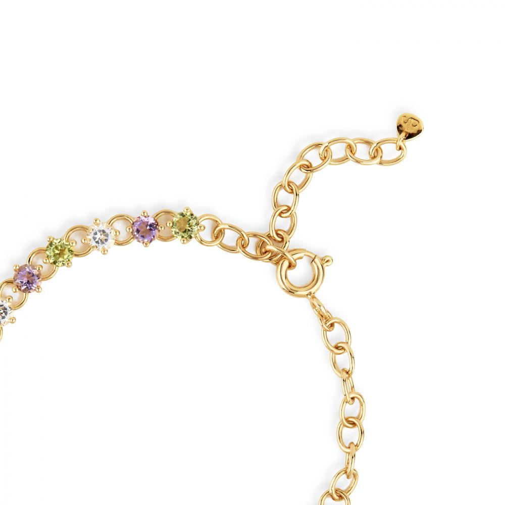 Dinny Hall Gem Drop Line Bracelet, With Adjustable Chain Length