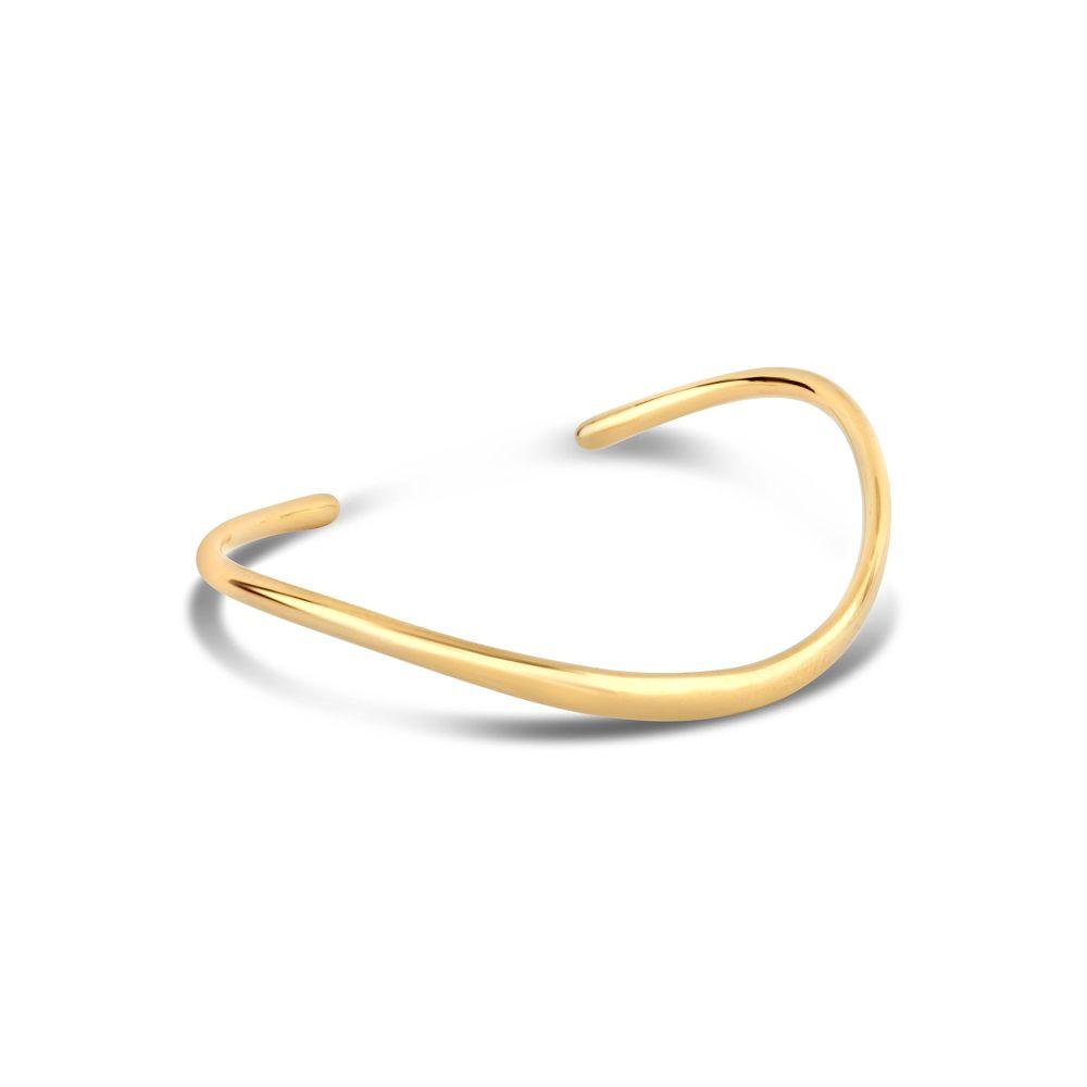 Wave Cuff in 22k yellow gold vermeil