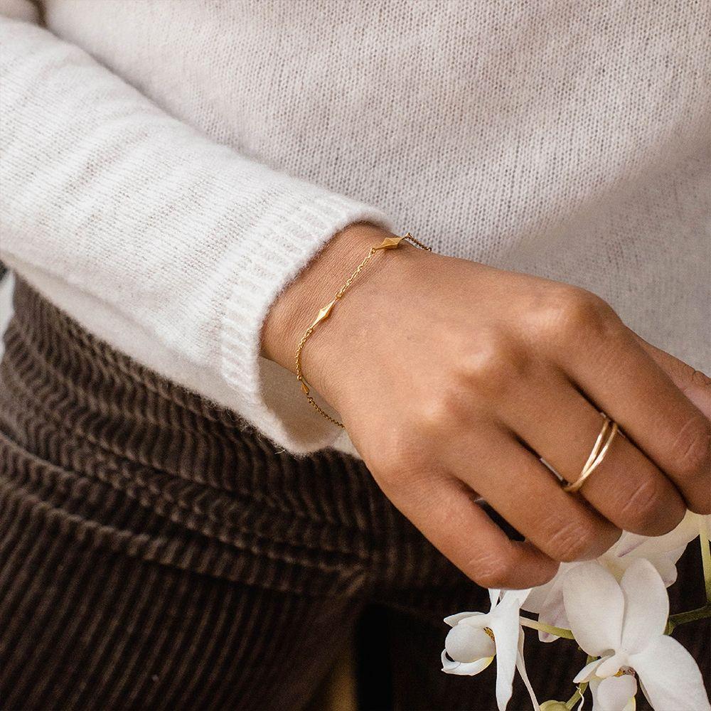 Diamond Charm Bracelet in Gold