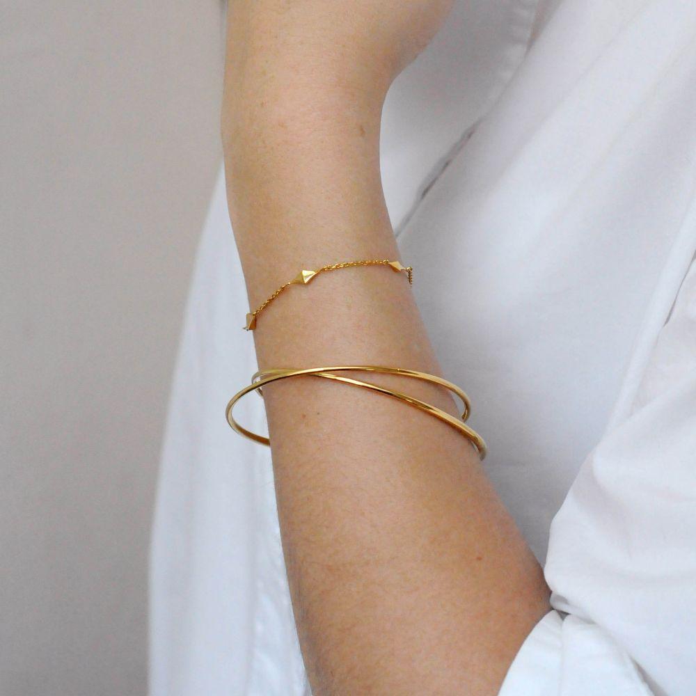 Dinny Hall Gold Plated Diamond Shape Charm Bracelet