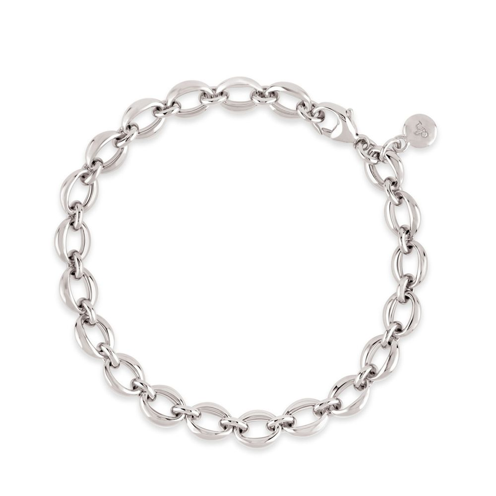 Handmade small heavyweight chain bracelet