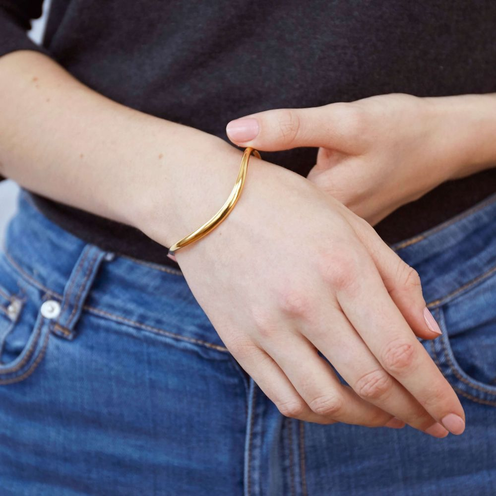 Simple Gold Stacking Cuff Bracelet