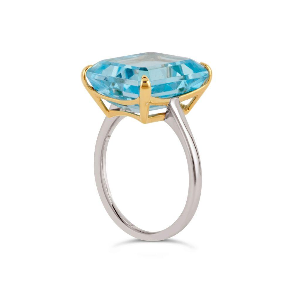 Sky Blue Topaz Cocktail Ring