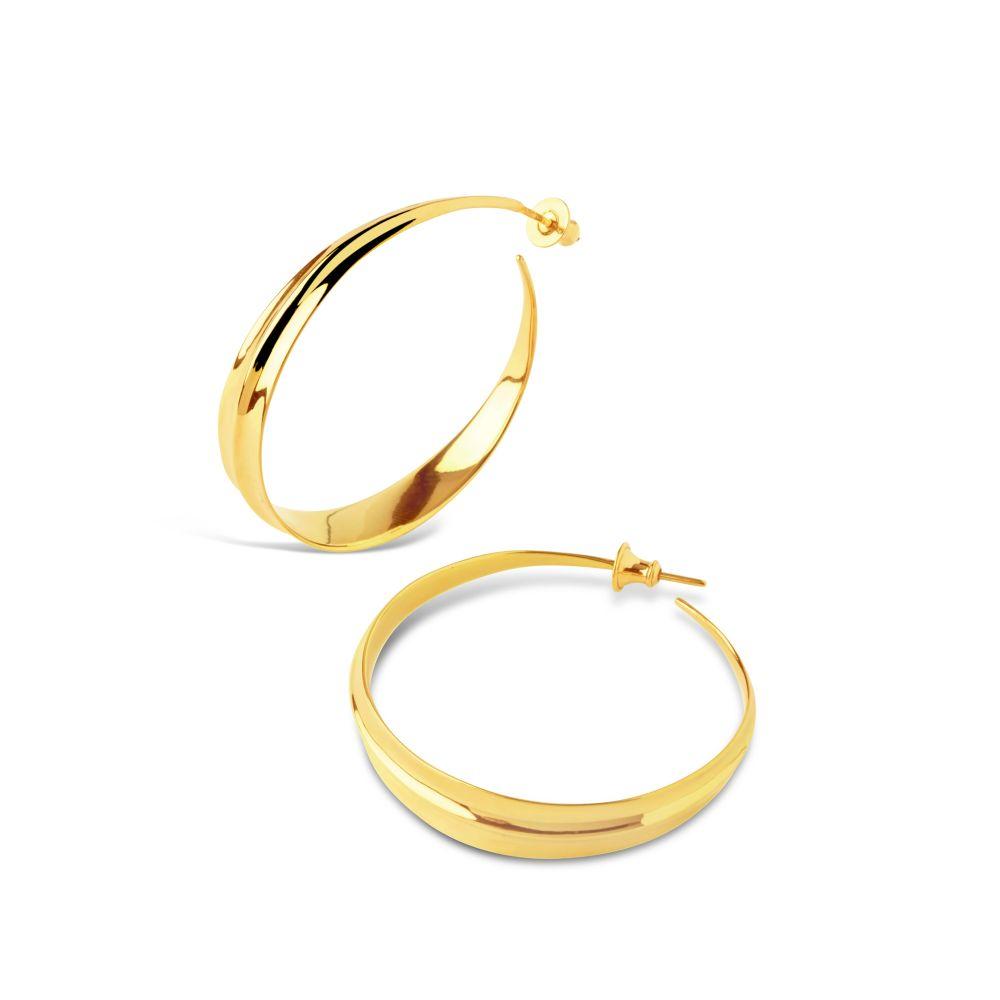 Large Gold Plated Hoop Earrings
