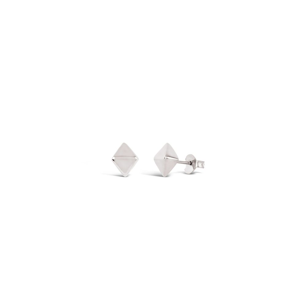 Mini Almaz studs in Silver