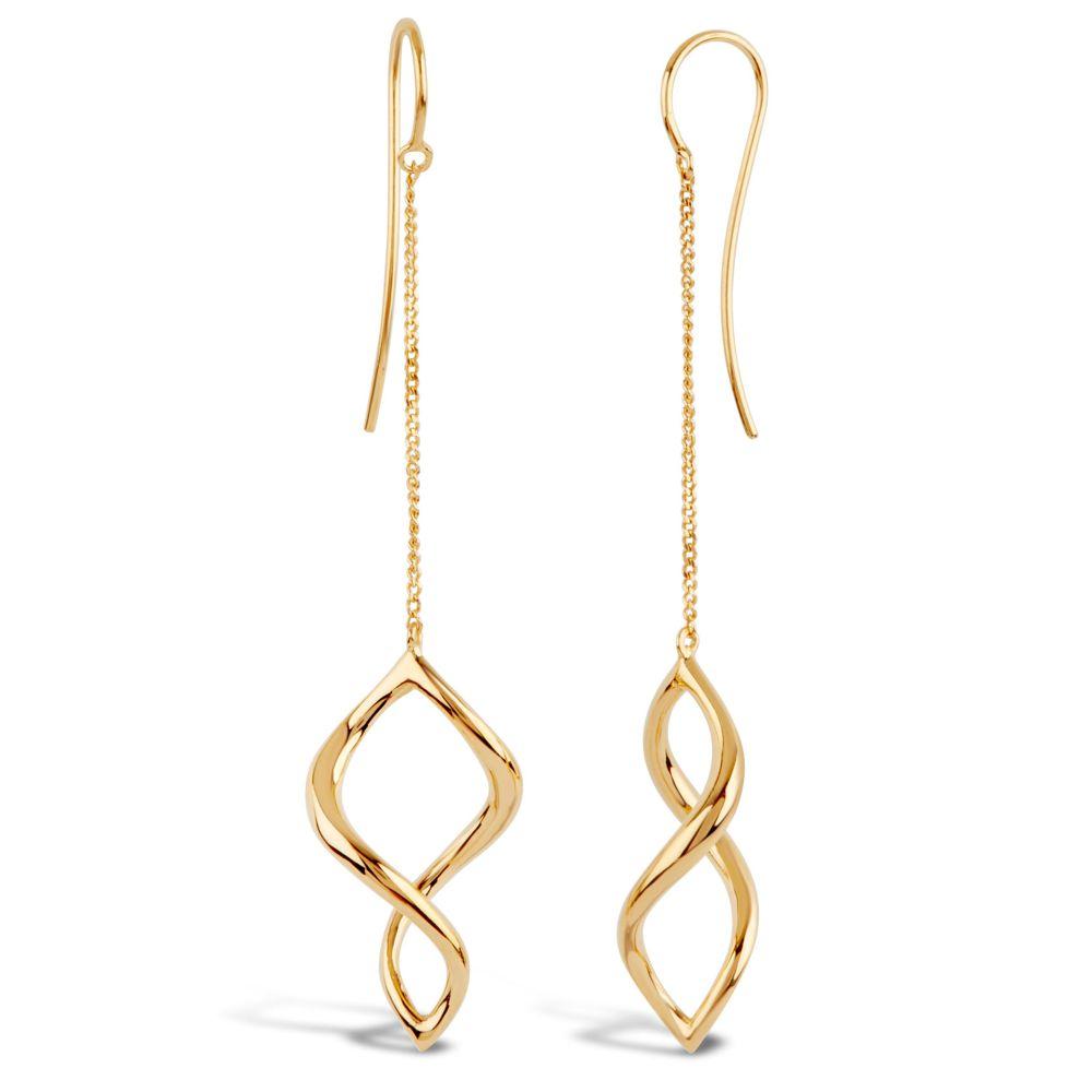 Dinny Hall Twist Small Chain Drop Earrings