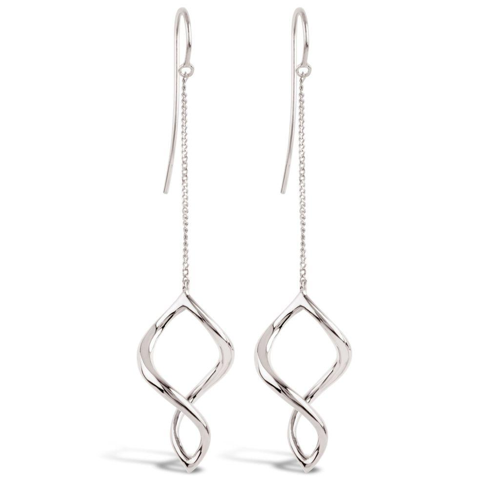 Dinny Hall Twist Small Chain Drop Earrings in Sterling Silver