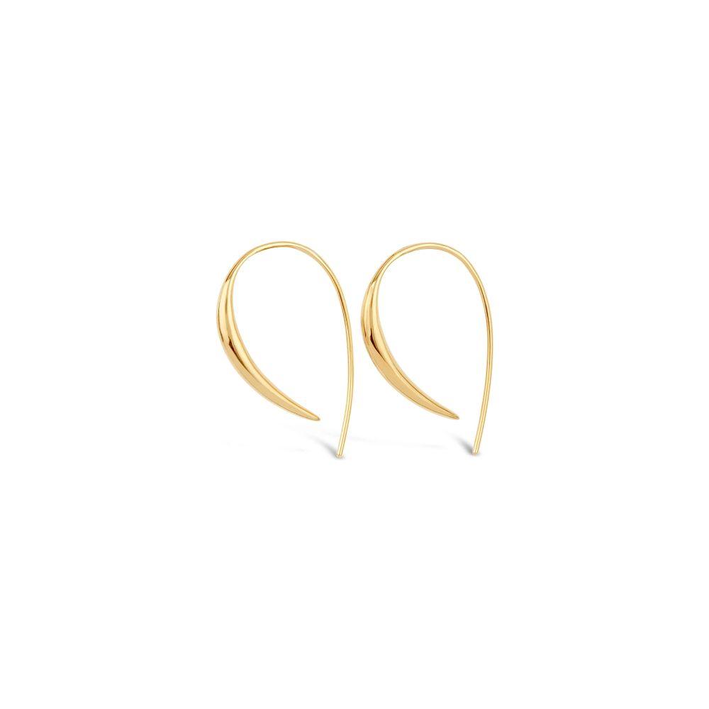 22k yellow gold vermeil hook earrings