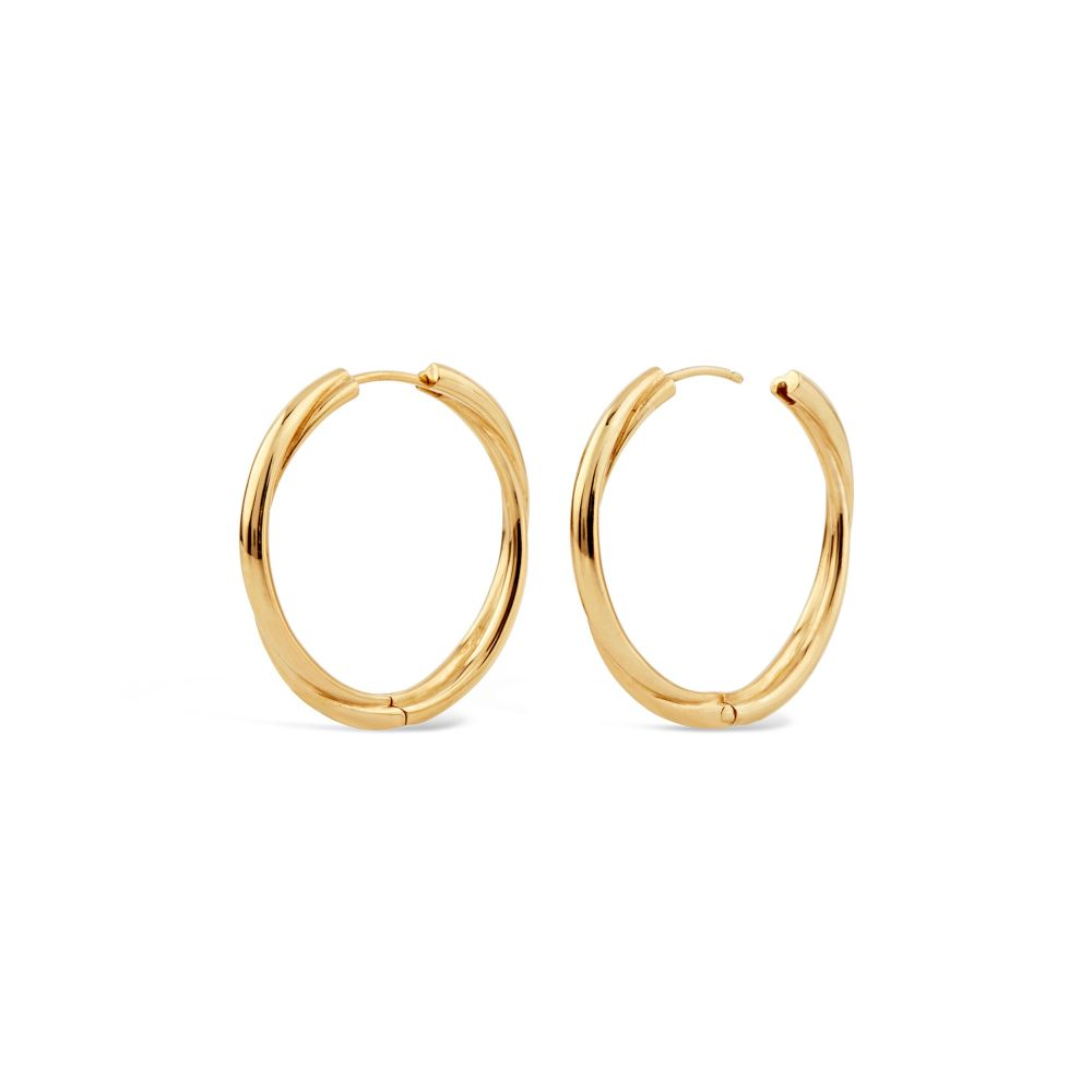 Chunky Click Hoops in gold plate