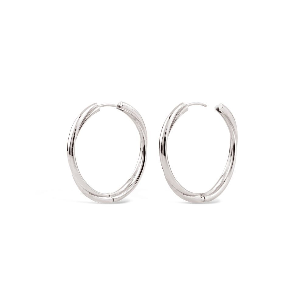 Chunky Click Hoops in sterling silver