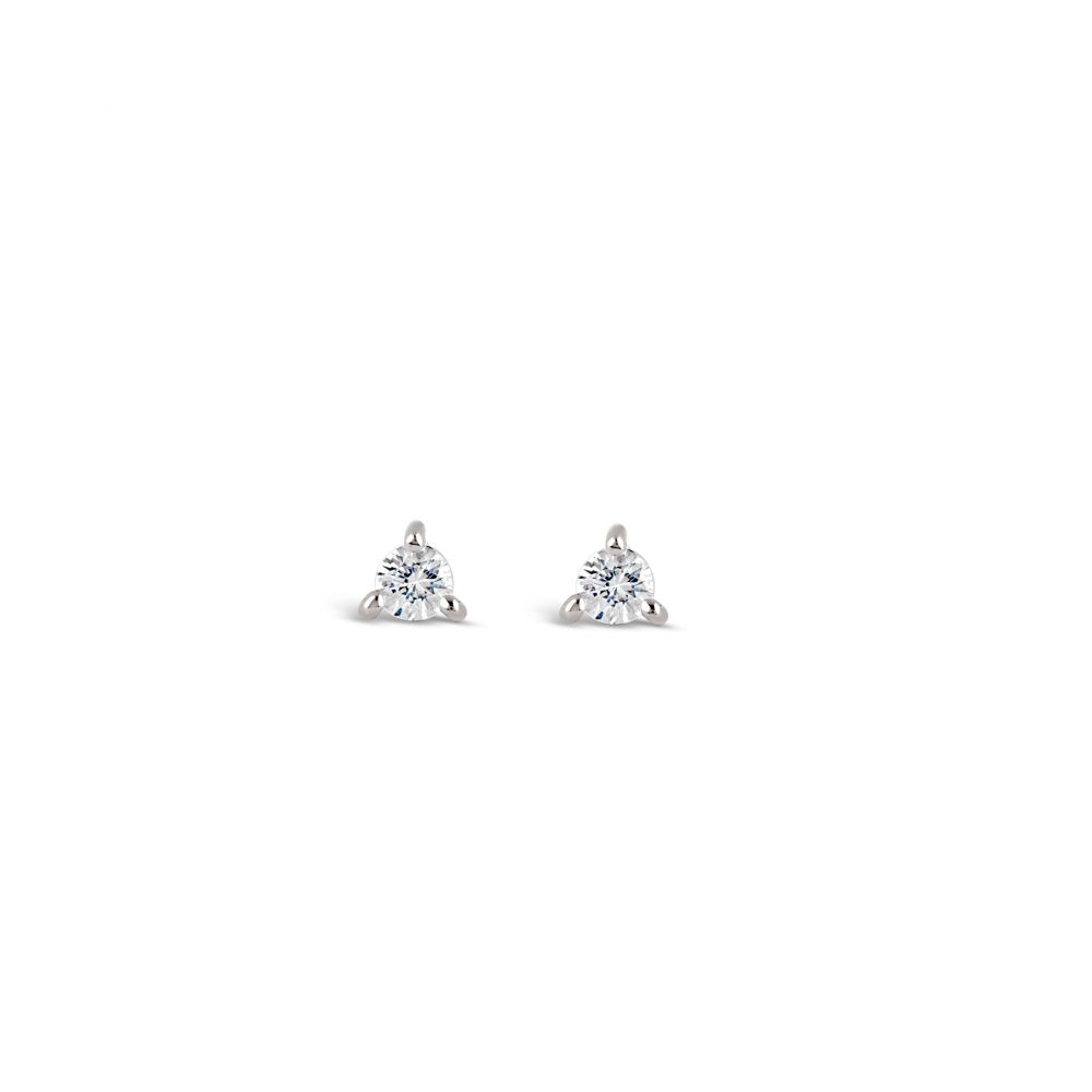 small white sapphire stud earrings