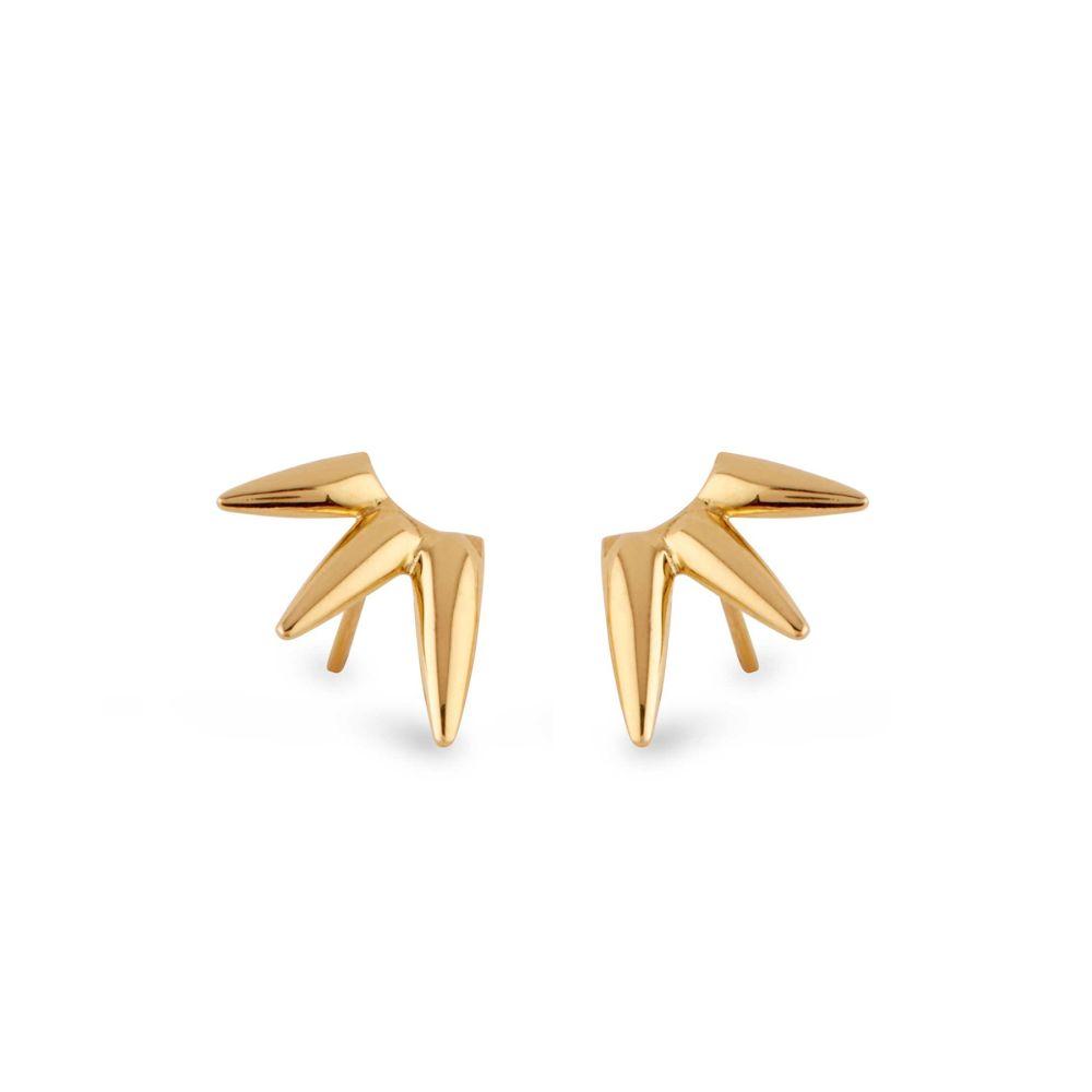 Sun spike Earrings in 22k yellow gold vermeil