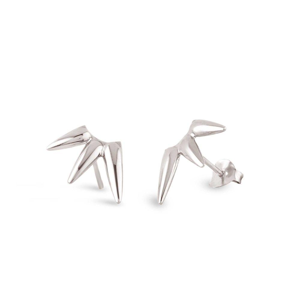 sterling silver Earring in shape of sun beam