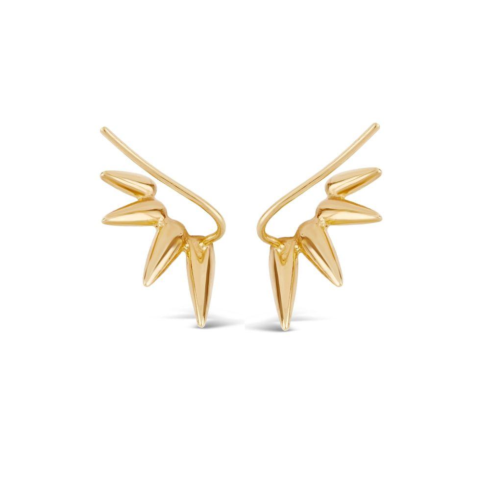 Crawler Hook Earring in Gold Plate