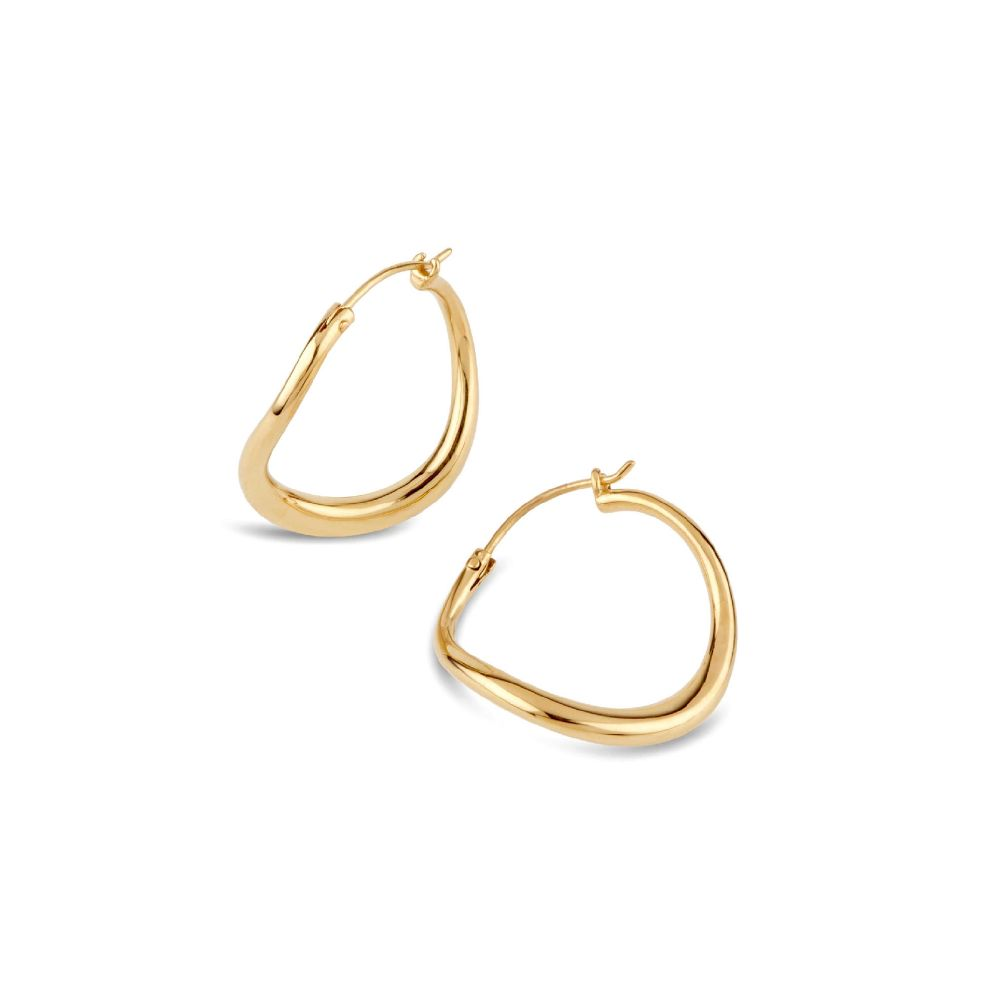 Dinny Hall Wave Small Hoop Earrings