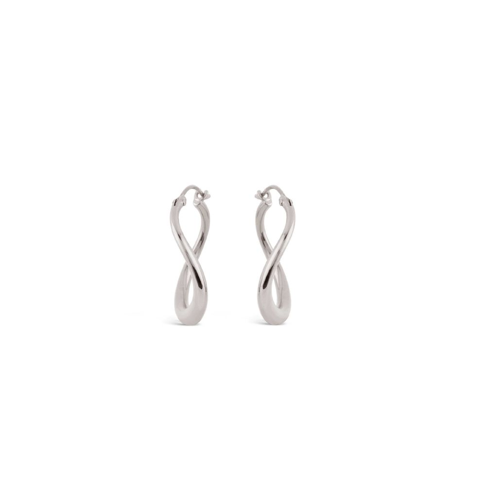 Wave Small Hoop Earrings in Sterling Silver