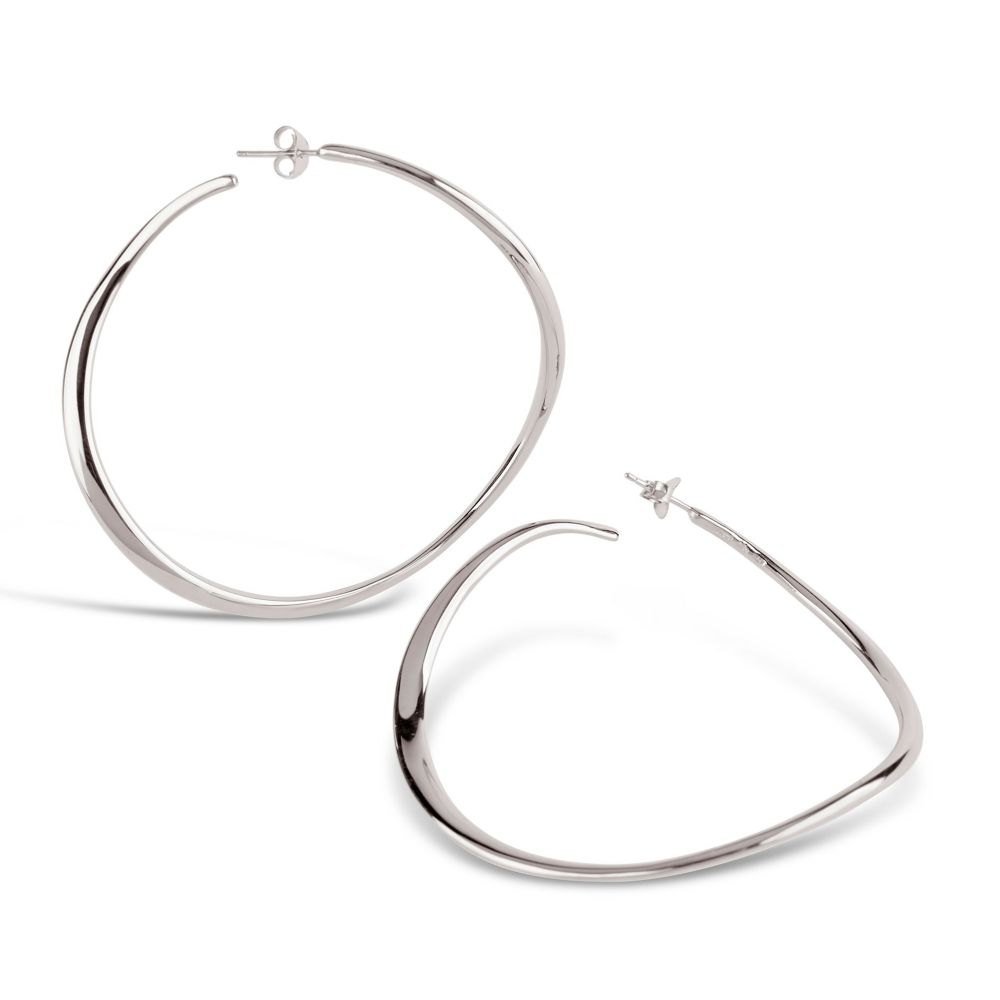 Wave XL Hoop Earrings