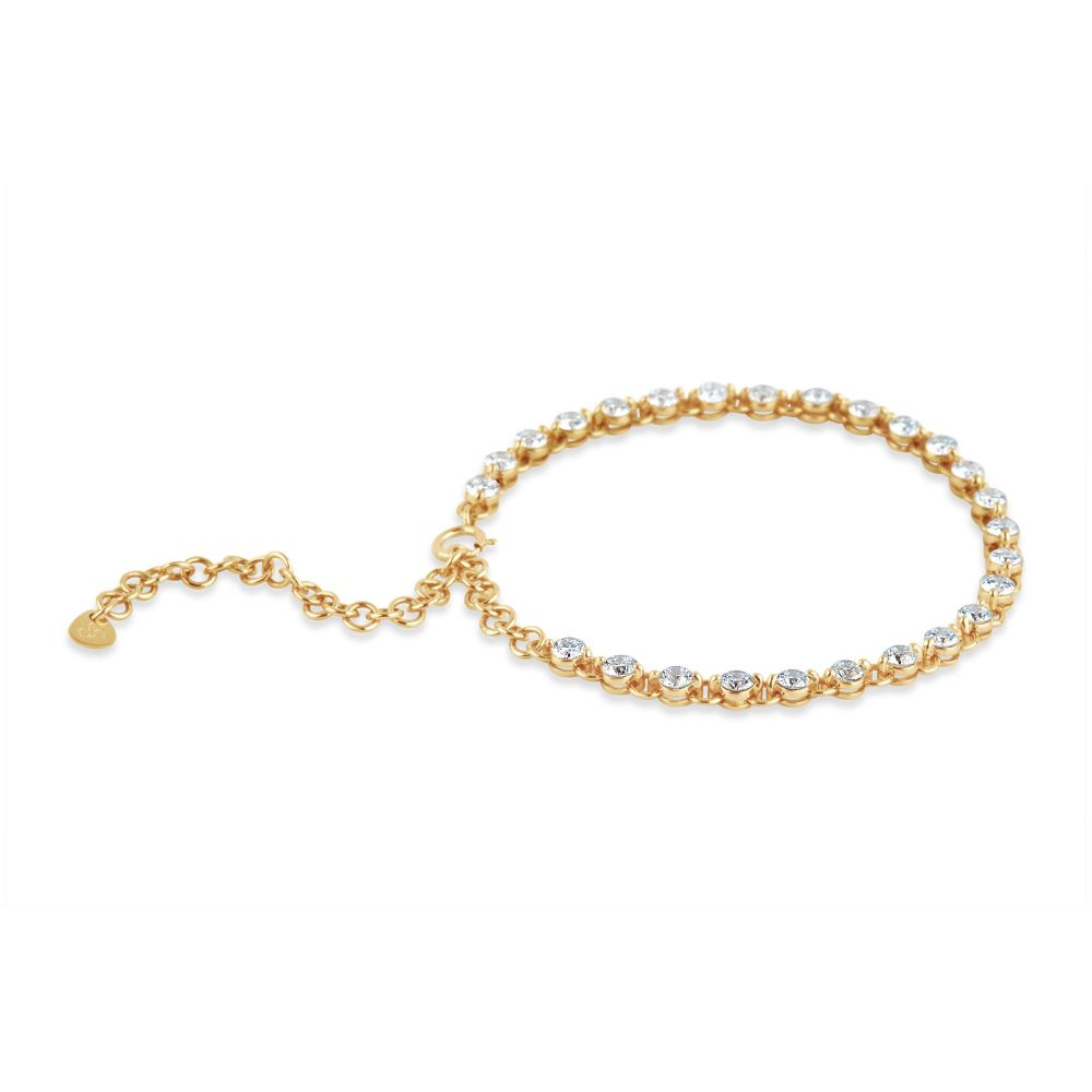 Dinny Hall Shuga 14K Gold Diamond Tennis Bracelet