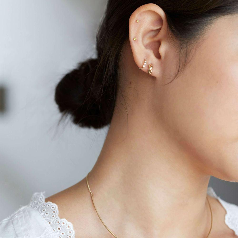14k yellow gold small stud earrings