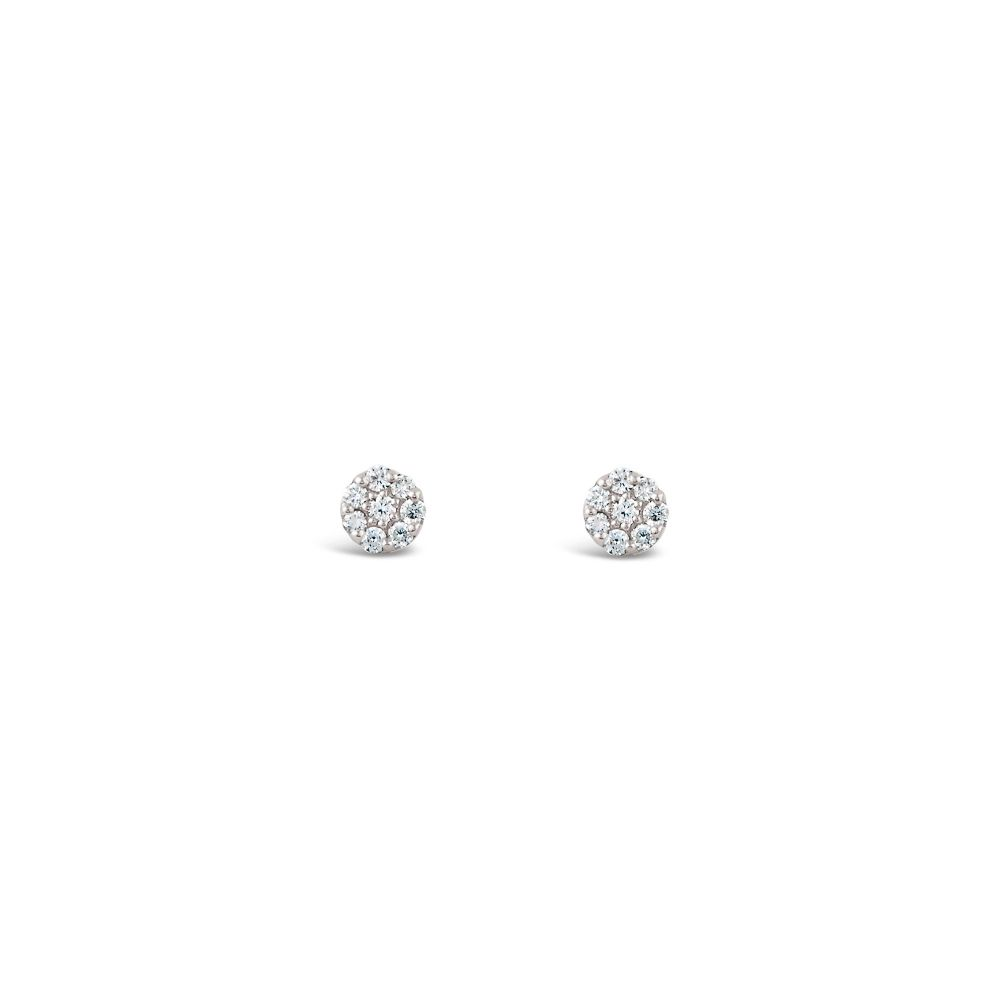 Mini Pavé Diamond Studs