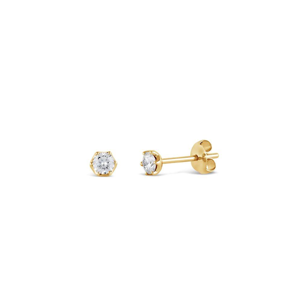 Elyhara 18k Yellow Gold Diamond Studs