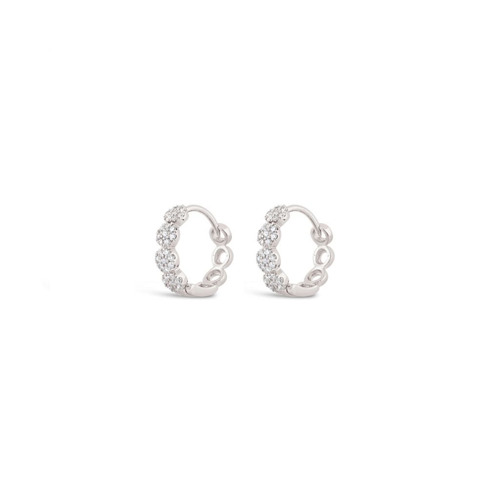 Dinny Hall solid Gold Pavé Diamond Huggie Hoops