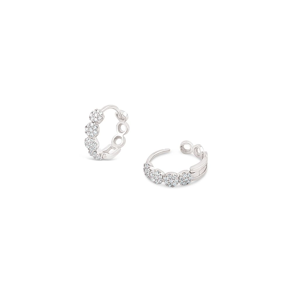 Shuga 14k Gold Pavé Diamond Huggie Hoops