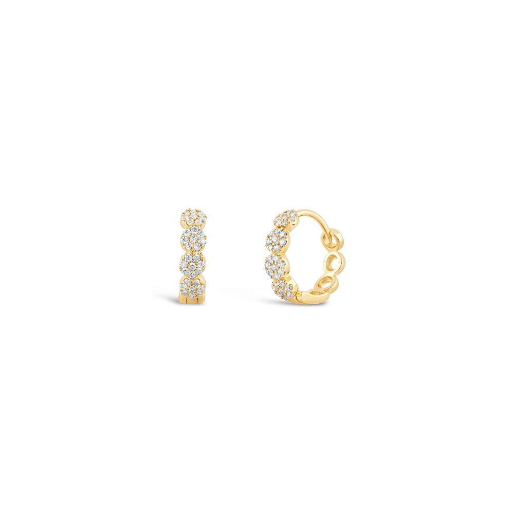 Dinny Hall Yellow Gold Huggie Hoops
