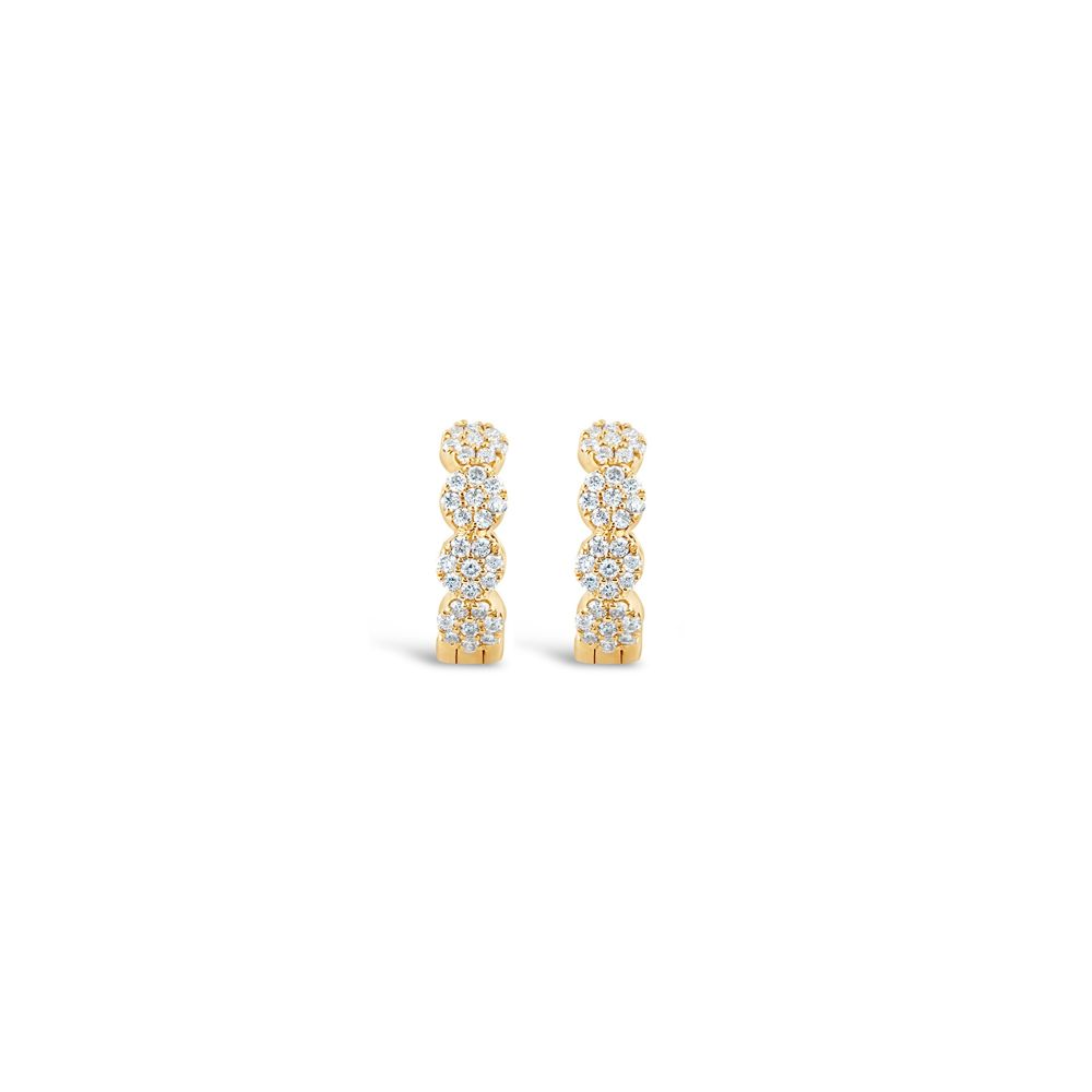 diamond hoop earrings yellow gold