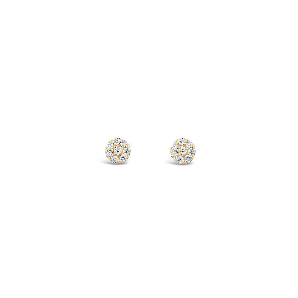 Dinny Hall circle diamond stud earrings