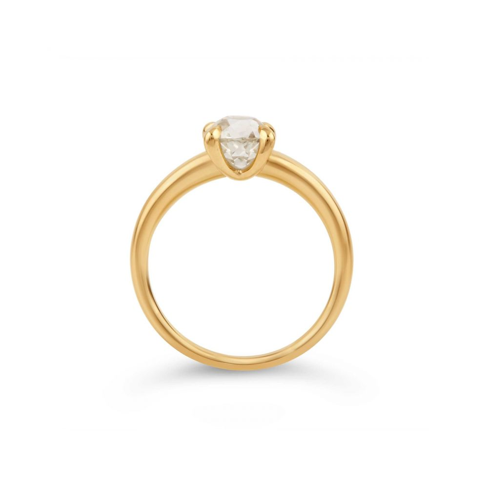 Dinny Hall 18k Old Cut Diamond Ring in Yellow Gold