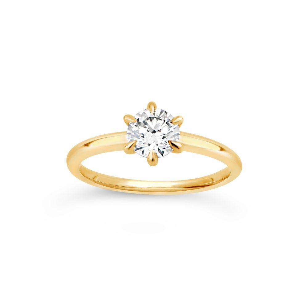 Dinny Hall Lily 18K Diamond Solitaire Ring