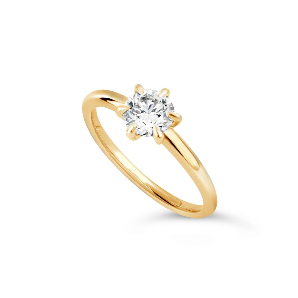 Lily 18K Diamond Solitaire Ring