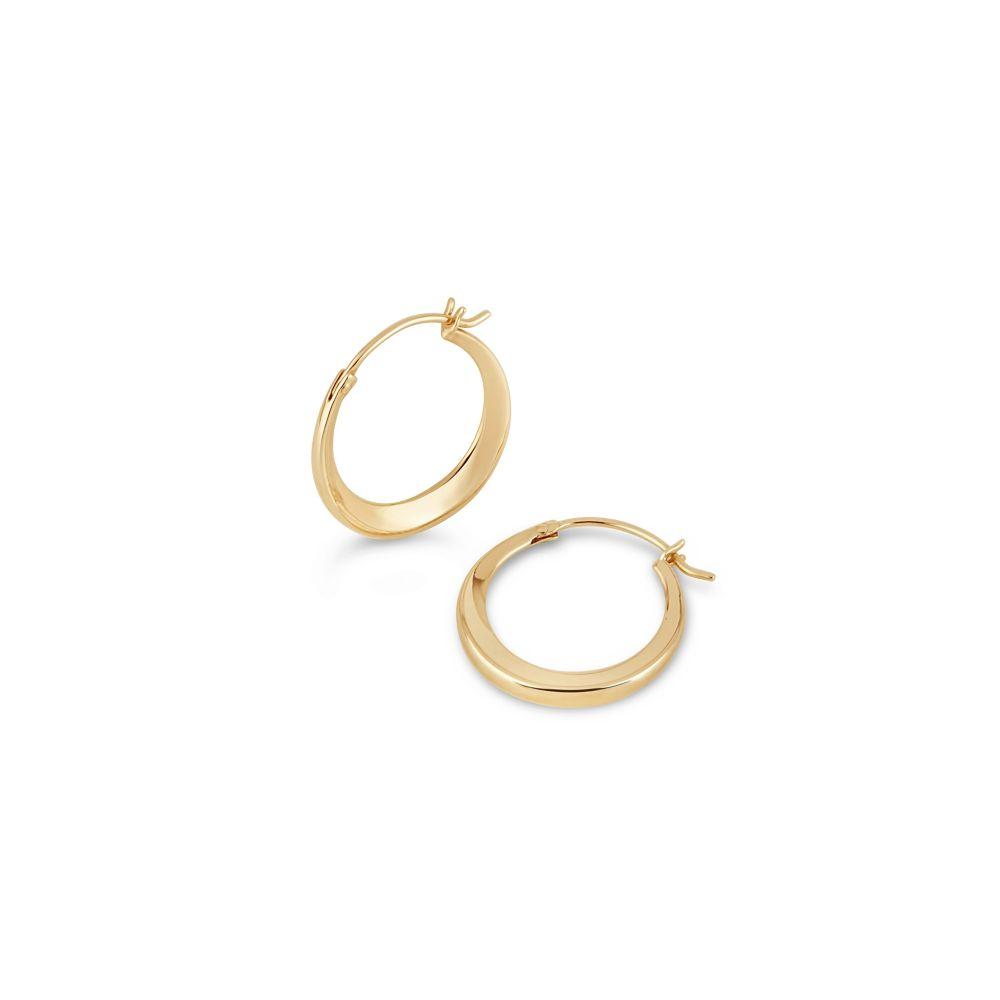 Yellow Gold Click Hoop Earrings