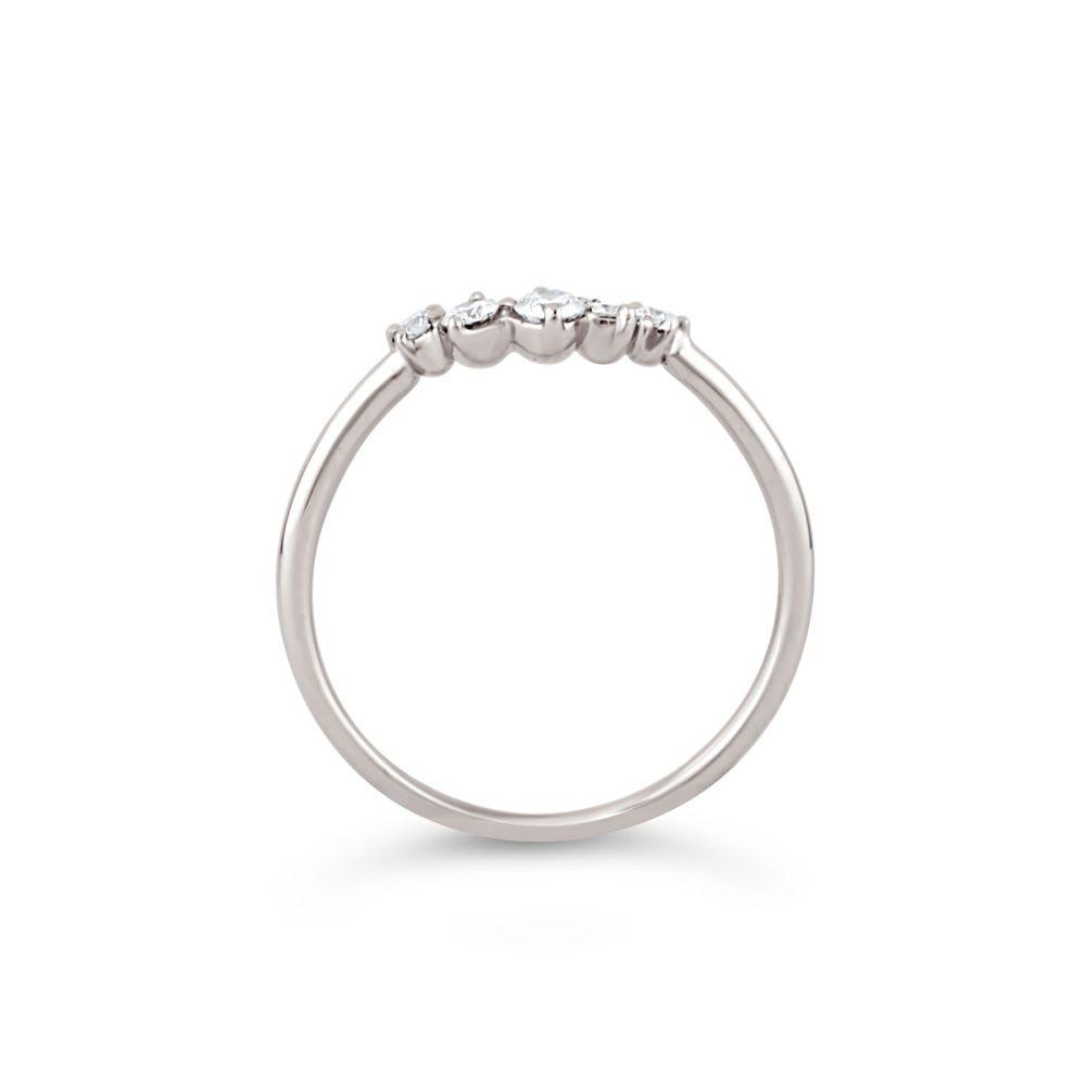 18K Diamond Crown Ring