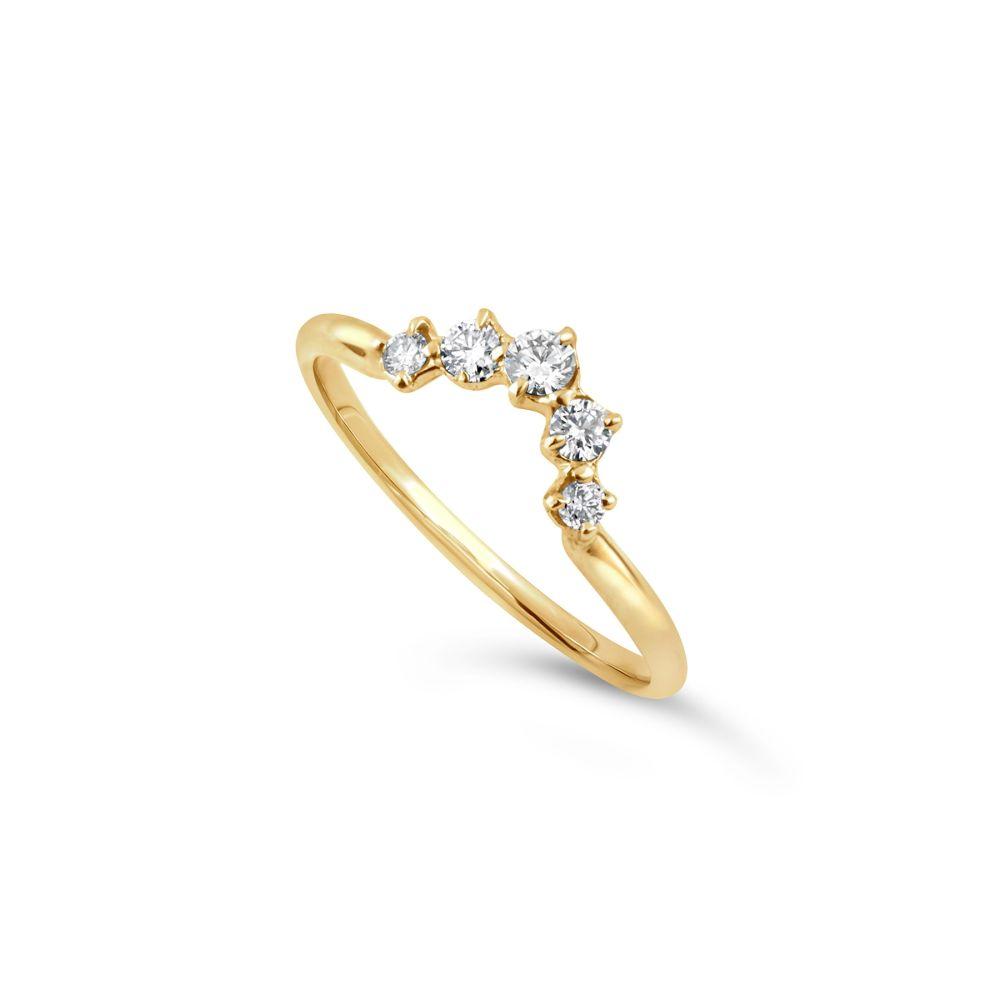 Lily 18K Diamond Crown Ring