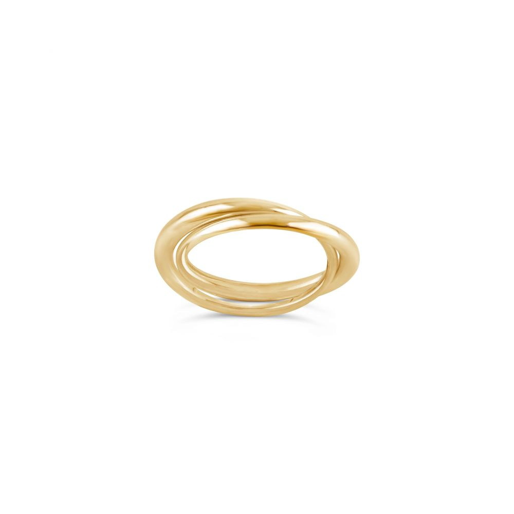 Signature Tapering 10k Gold Double Ring