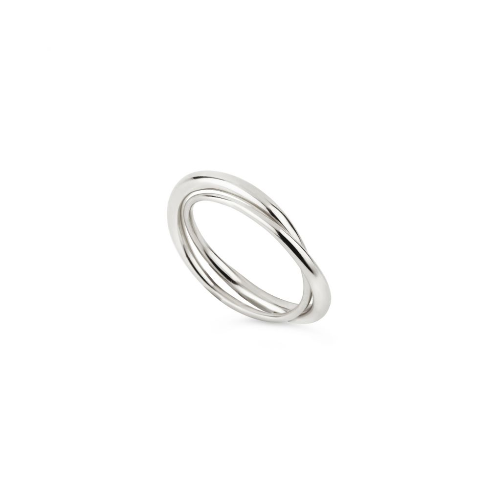 Dinny Hall Duo Sterling Silver Simple Band Ring