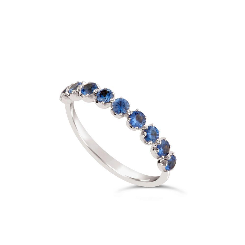 Dinny Hall Sapphire Half Eternity Ring