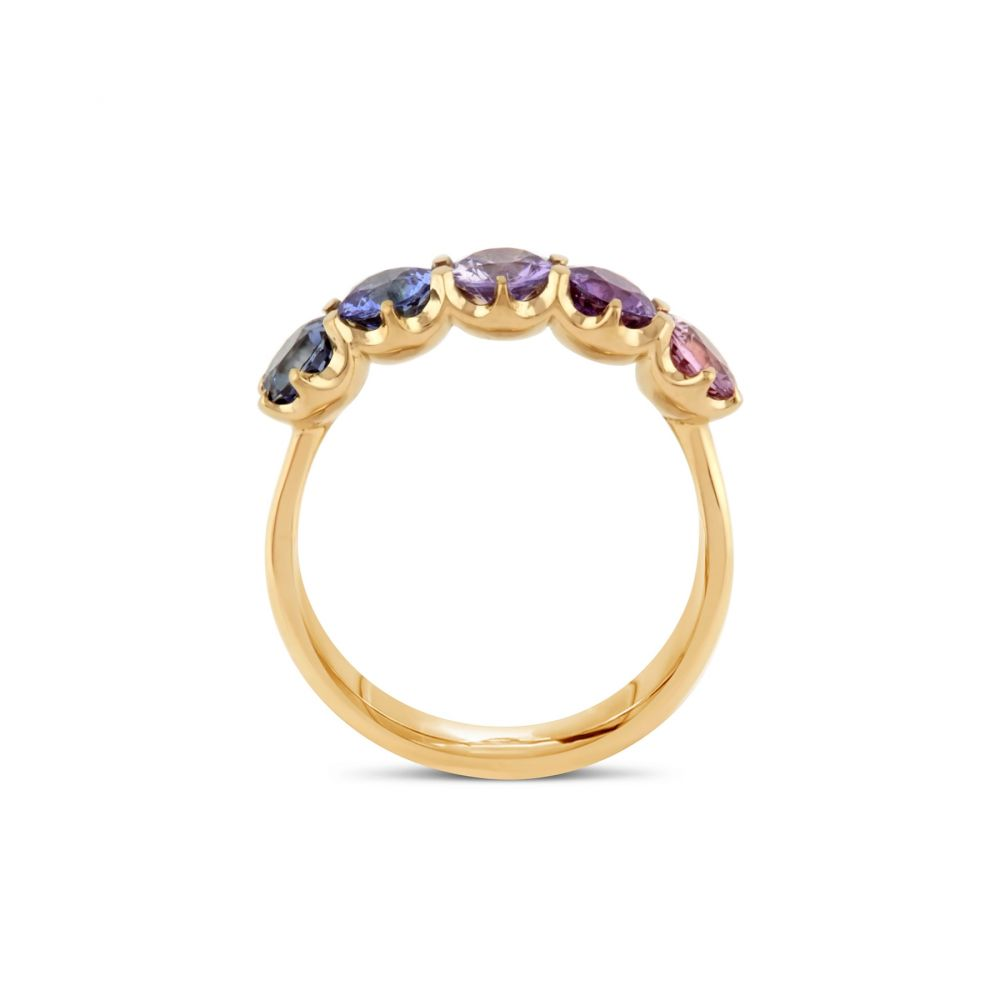Dinny Hall multi coloured sapphire ring