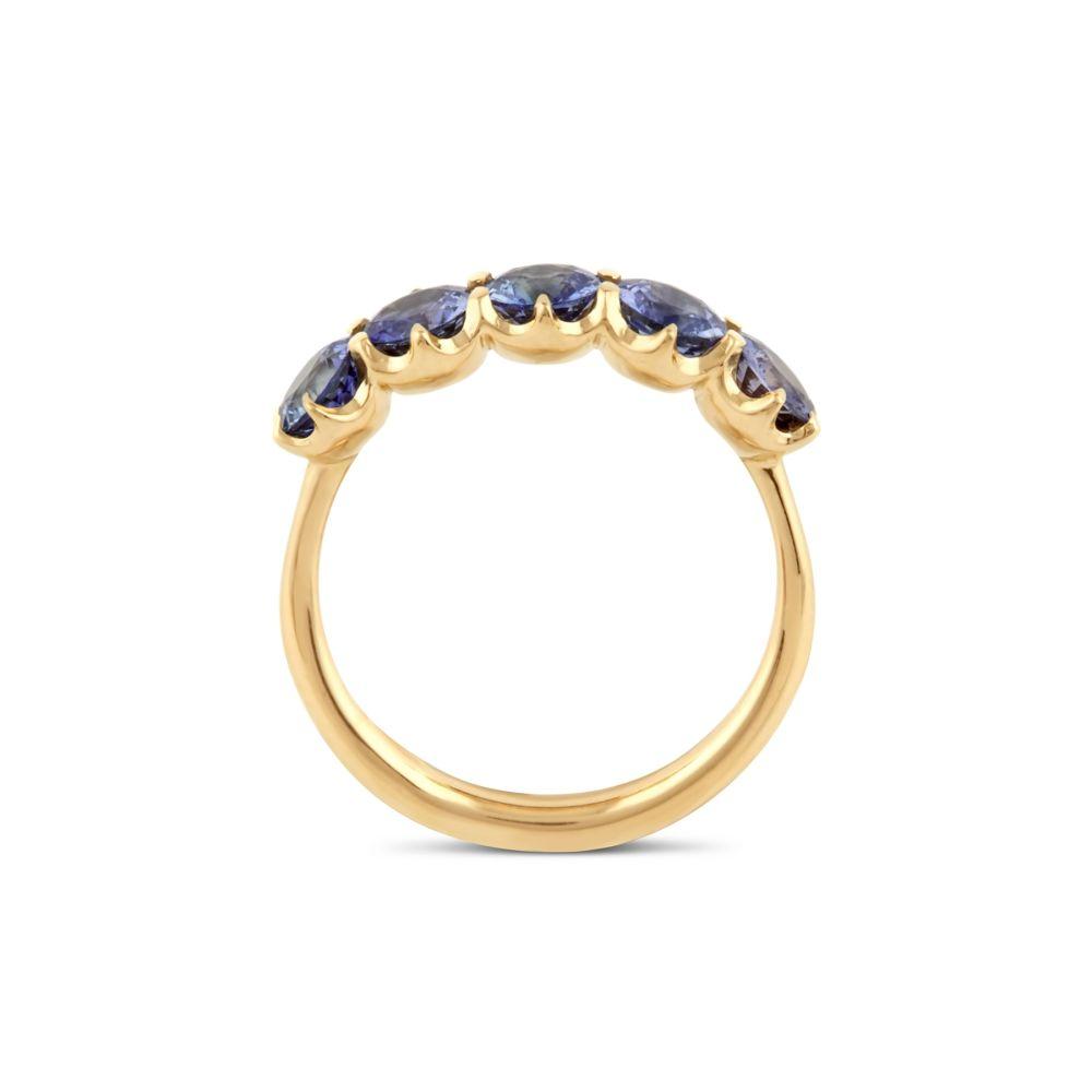 Dinny Hall multi coloured blue sapphire ring
