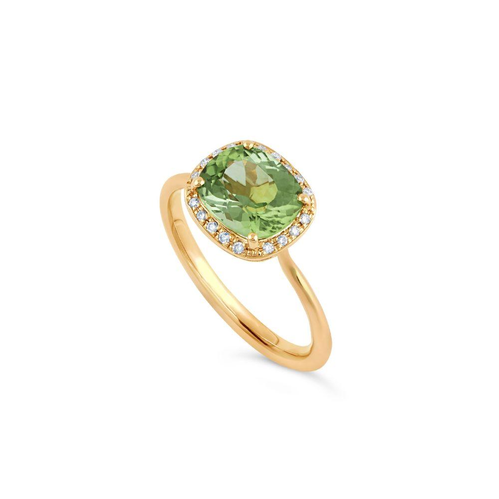 Dinny Hall Green Tourmaline Engagement Ring
