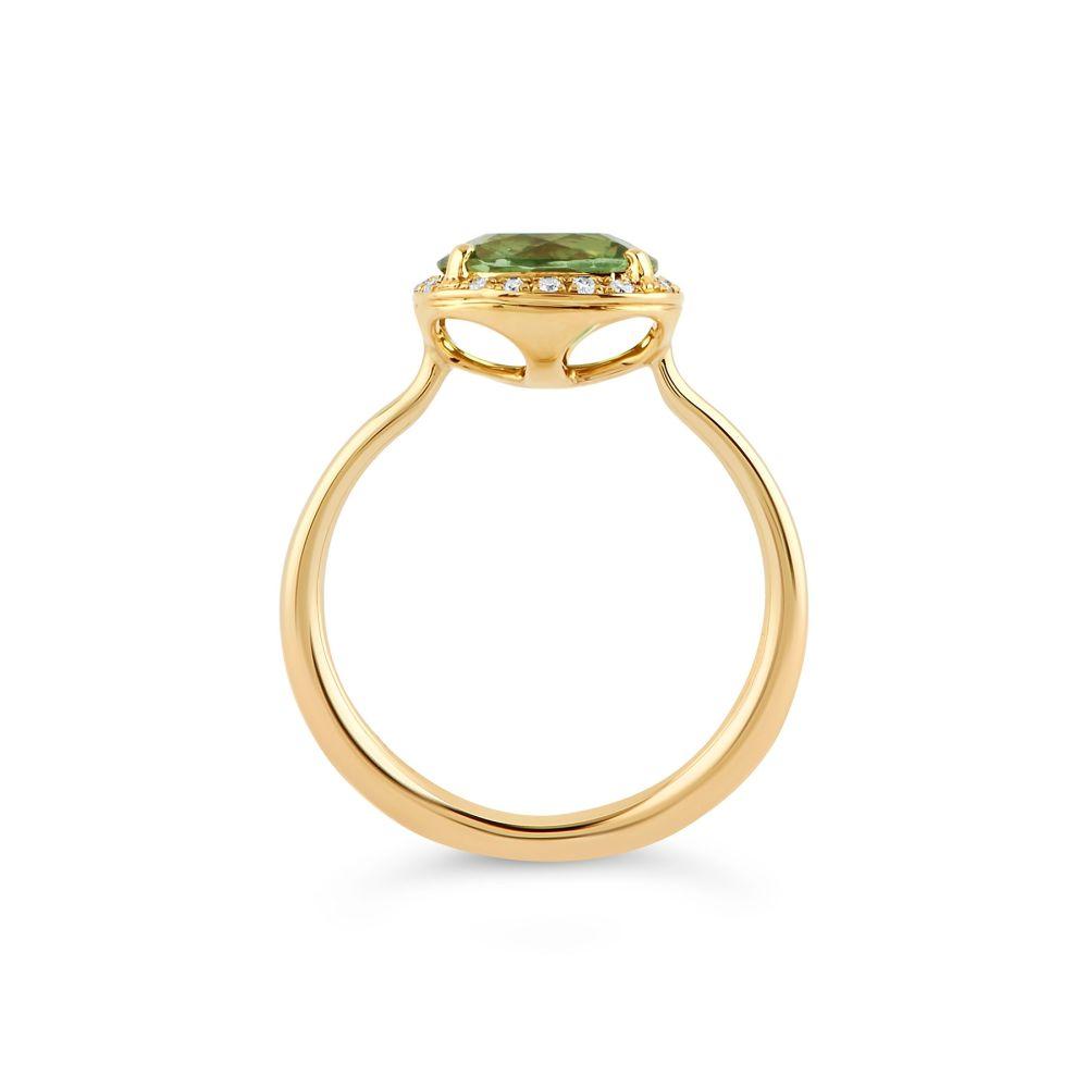 Yellow Gold Stone Set Ring with Diamonds