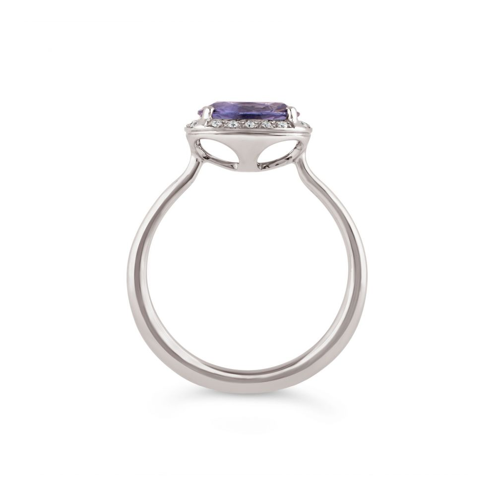 Dinny Hall Solid Gold Purple Sapphire Engagement Ring
