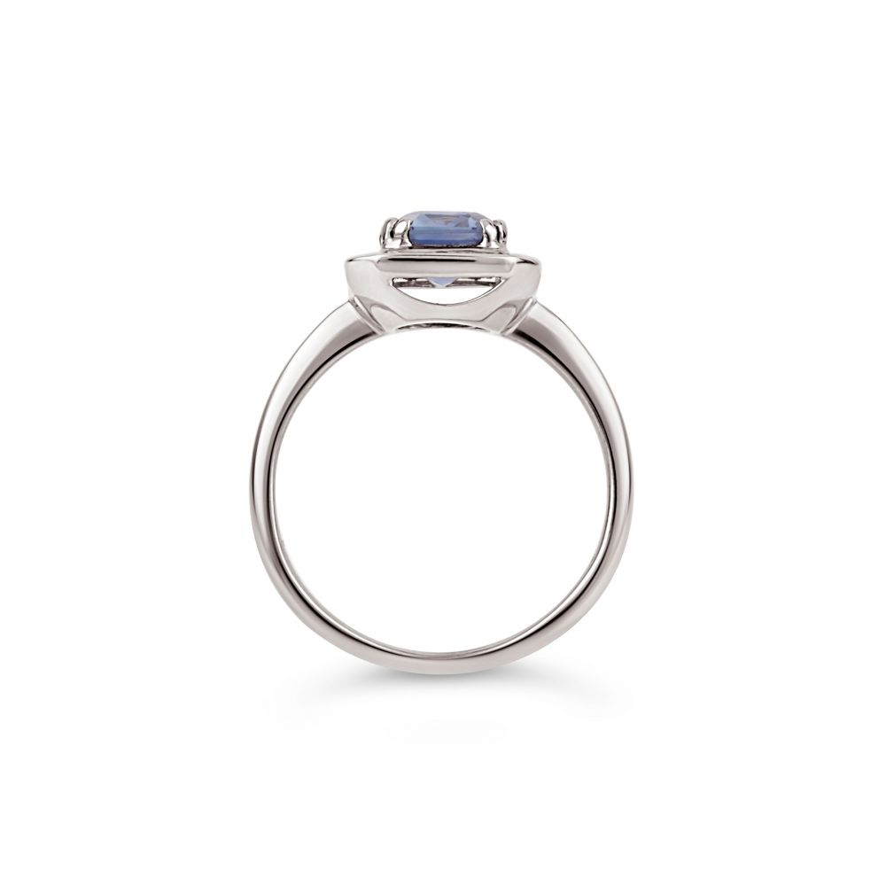 Dinny Hall 18k Gold Blue Sapphire and Baguette Cut Diamond Ring
