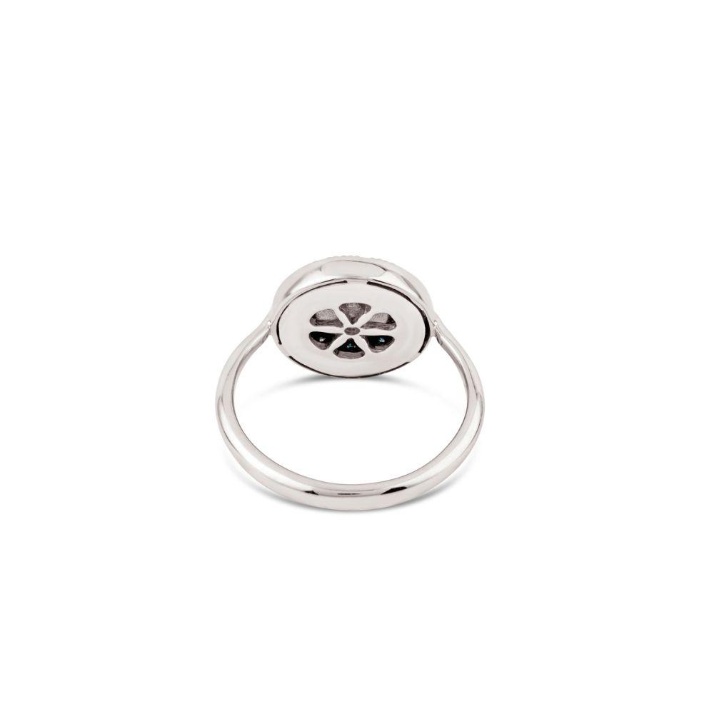 14k white gold pinky ring