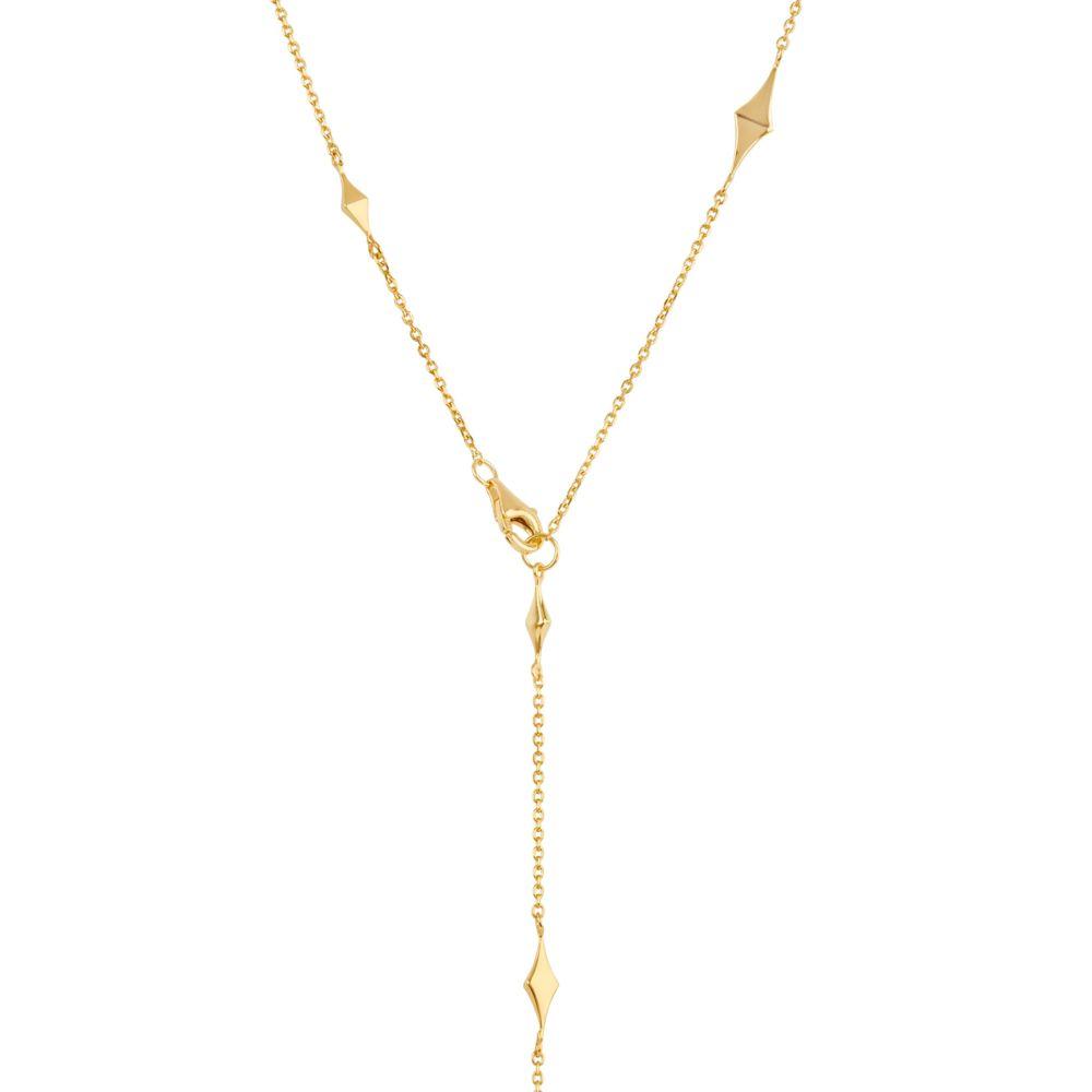 Gold Y Shape Long Necklace